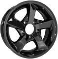 14x5.5 Dark Chrome Twisted Star S02VCD Trailer Wheel, 5 Lug, 1900 lb Max Load