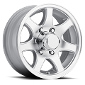 15x6 Aluminum T02 Trailer Wheel, 6 Lug, 2830 lb Max Load, Center Cap not included