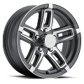 15x6 T06 Linkster Gray Machined Aluminum Trailer Rim 5x4.50 T06-56545GM