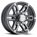 15 x 6 Grey T06 Linkster Aluminum Trailer Wheel  (6-Lug)