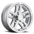 14x5.5 Linkster Silver Machined T06 Aluminum Trailer Wheel 5x4.5 T06-45545SM