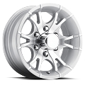 15x6 Viper Silver Machined Aluminum T07 Trailer Wheel 6x5.5 Lug, 2860 lb Max Load