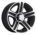 15x6 T09 Trailer Rim Black Machined, 5 Lug, 2150 lb Max Load