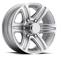 15x6 T09 Trailer Rim Silver Machined, 5 Lug, 2150 lb Max Load