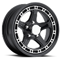 15 x 6 Black Sendel T11 Aluminum Trailer Wheel, 5 on 4.50 Lug 2150 lb Max Load
