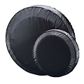14 in Shipshape #27430 Spare Tire Cover, Black