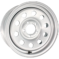 14 x 6 Silver Steel Modular Trailer Wheel 5 x 4.50