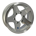 16x7 HiSpec Series 04 Aluminum Star Trailer Wheel 6 Lug, 3200 lb Max Load