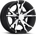 13x5.5 Viper Black T07 Trailer Wheel 5 Lug, 1660 lb Max Load