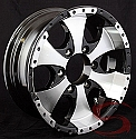 15x6 Transformer Aluminum Trailer Wheel, 6 x 5.50, 2540 lb Max Load