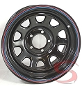 15x7 Black Steel Daytona OEM Wheel 5 Lug, 1,600 lb Max Load