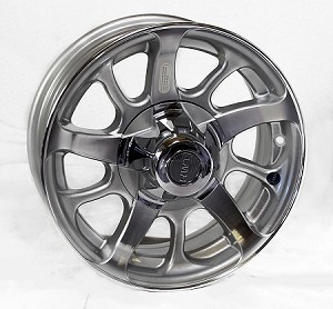 15x6 Aluminum Series08 HiSpec Aluminum Trailer Wheel, 5 on 4.50, 2,150 lb Max Load