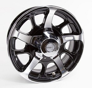 15x6 Dark Force Aluminum Hi Spec Trailer Rim 5 Lug, 2150 Max Load