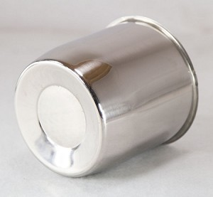 4.25 in Stainless Steel Trailer Wheel Center Cap Closed-Ended