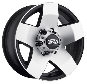 15x6 Phat Star Aluminum Trailer Wheel, 6 Lug, Center Cap Incl, 2830 lb Max Load