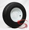 16.5x6.50-8 Towmaster Trailer Tire LR C with 8 x 5.75 Solid White Trailer Wheel 4 on 4