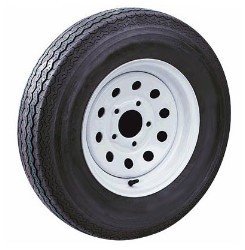 4.80-12 Trailer Tire LR B w/ 12 x 4 White Modular Wheel 5 on 4.50 (No Pinstripe)