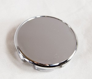 Chrome Replacement Cap for EZ Lube Open End Plus Plug Center Caps 2.5 in