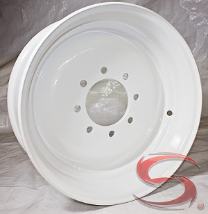 "17.5x6.75 Commercial Truck/Trailer Wheel 6005 lb Capacity 8x6.50 (FLANGE NUT REQUIRED: 5/8""-18)"