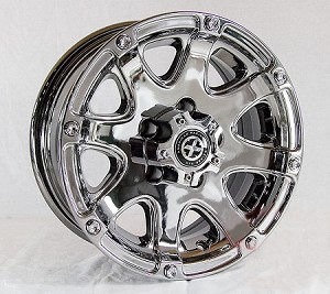14x6 American Racing ATX Ledge Trailer Wheel, 5 on 4.50 Lug, 1800 lb Max Load