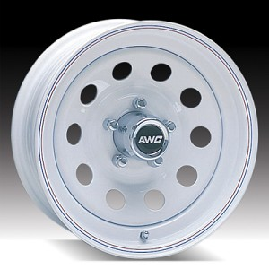 15x6 White Painted Steel Modular Trailer Wheel 5x4.50, 2600 lb Max Load