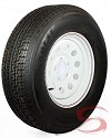 ST205/75R15 Radial Trailer Tire with 15x6 White Modular Trailer Wheel 5 on 4.50 LR C