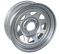 14x6 Galvanized Steel Spoke Trailer Wheel 5 Lug, 1900 lb Max Load