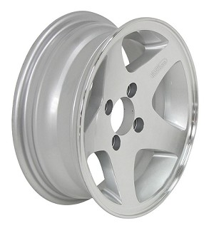 12x4 Aluminum Star Hi Spec Series 04 Trailer Wheel 4 Lug, 1220 lb Max Load