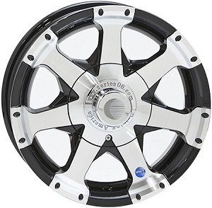 13x5 Hispec Black Series06 Aluminum Trailer Wheel 4 Lug, 1480 lb Max Load
