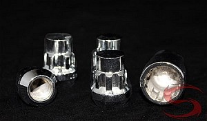 "Chrome Spline Bulge Trailer Wheel Lug Nut Lock 1/2 in. Thread 3/4"" and 13/16"" Dual Socket by Mr. Lug Nut"