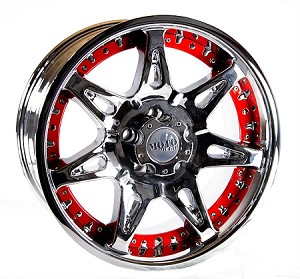 18x9 Moto Metal Aluminum Chrome Trailer Wheel, 5x4.50 Lug, 2200 lb Capacity