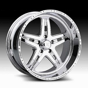 17x8.5 Chrome Ninja Star Aluminum Trailer Wheel, 5 Lug, 2500 Max Load