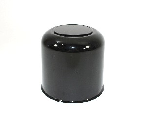 4.90 ABS Plastic Black Center Cap with Removable Plug S1050-490BB