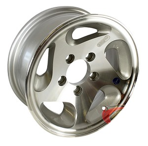 15x6 Series05 Aluminum Hi Spec Trailer Wheel 5 Lug, 2150 lb Max Load