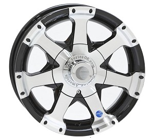 16x7HD HiSpec Black Series06 Aluminum Trailer Wheel 8 Lug, 3960 lb Max Load