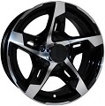 15x6 T10 Sendel Aluminum Trailer Wheel 5 on 4.50 Lug 2,150 lb Max Load