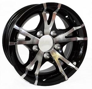15x6 Viper Black Machined Aluminum T07 Sendel Trailer