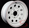 15x6 White Painted Steel Modular Trailer Wheel 5 on 5 Lug, 2600 lb Max Load