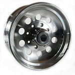 17.5 x 6.75 Aluminum Modular Hi Spec Trailer Wheel 8 x 6.50 Center Cap & 9/16 in Lug Nuts Included