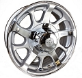 16x6 Series08 HD Aluminum Hi Spec Trailer Rim 8 Lug, 3960 lb Max Load