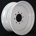17.5x6.75 Commercial Truck/Trailer Wheel  8x6.50 Lug (FLANGE NUT REQUIRED: 5/8
