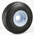 18.5x8.50-8 Tread Star Golf Cart Tire LR B, 815 lb Max Load mounted on 8x7 Solid White Steel OEM Trailer Wheel, 5 on 4.50 Bolt