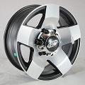 14x5.5 Phat Star Aluminum Trailer Wheel Center Cap incl. 5 Lug 1900 lb Max Load