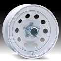 15 x 5 White Modular Trailer Wheel 5 on 5, 1870 lb Max Load Center Cap Sold Separately