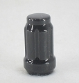 Black Spline Acorn Lug Nut 1/2 in Splined Trailer Lug Nut