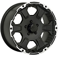 15x6 Black Rock Intruder 910B Aluminum Trailer Wheel 5x4.50 Lug, 2150 lb Max Load 910B561235