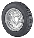 5.30x12 Galvanized Steel Spoke Trailer Wheel and Tire Package 5 Lug Load Range C