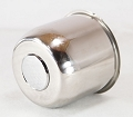 4.90 in Stainless Steel Trailer Wheel Cap Open End Plus Plug