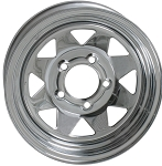 12x4 inch Chrome Spoke Steel Trailer Wheel 5 Lug, 1220 Max Load