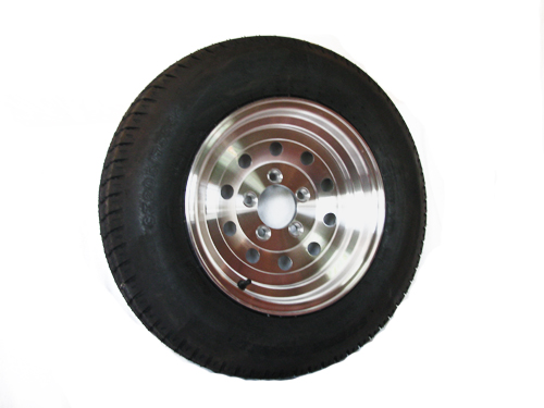 Bias Ply Tires >> St215 75d14 Bias Ply Trailer Tire With 14 X 5 5 Aluminum Sendel Modular Trailer Wheel Wheel